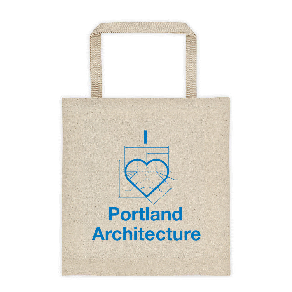 I ♡ Portland Architecture Tote Bag - Large
