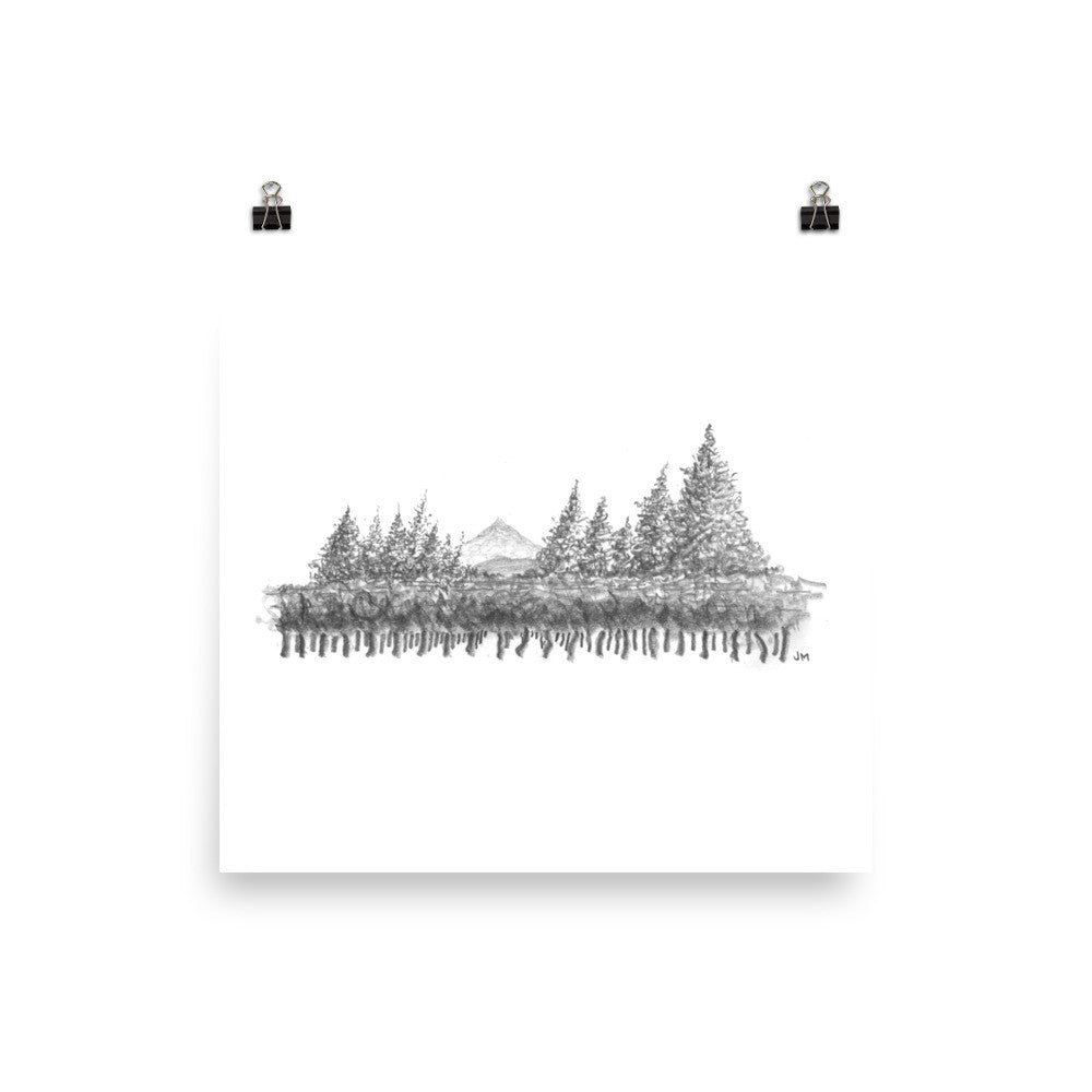 Cloudrest Vineyards Sketch Print