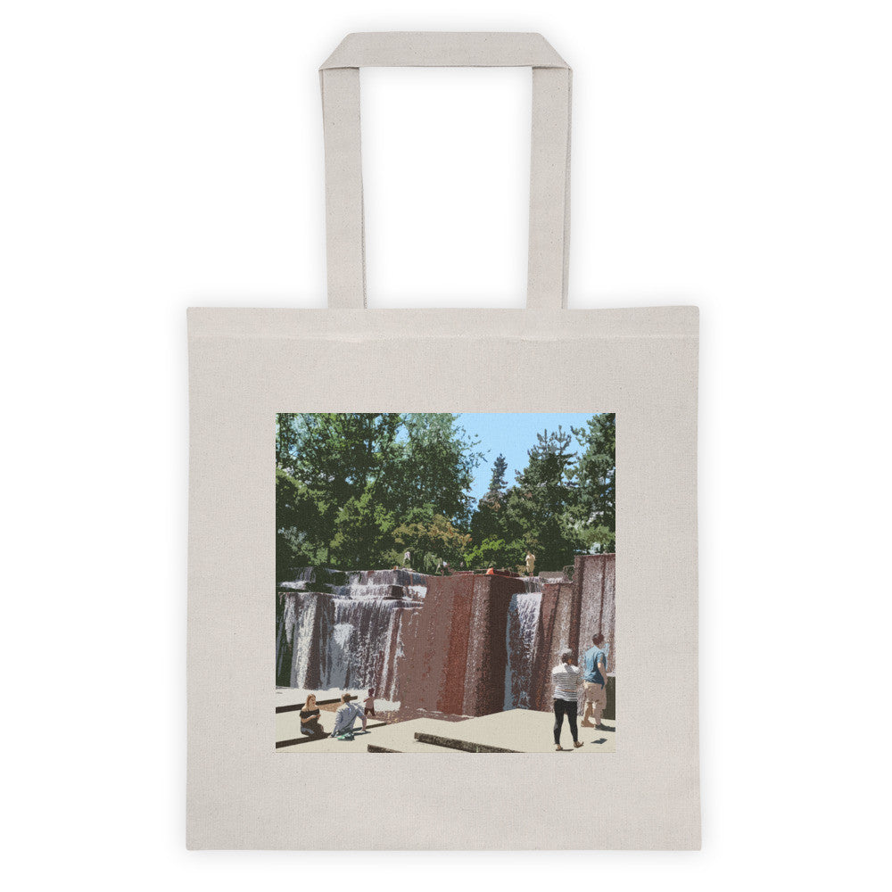 Keller Fountain Landmarks Tote Bag - Small
