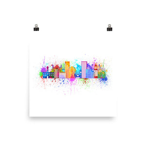 Painted Skyline Print