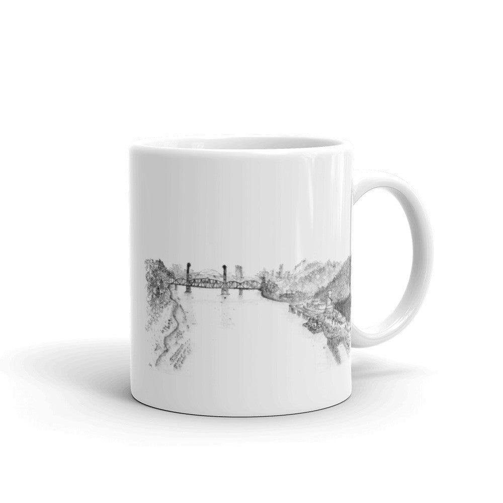 Portland from St Johns Sketch Mug