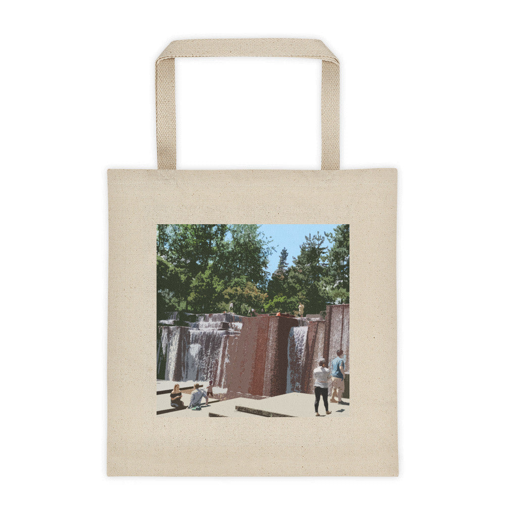 Keller Fountain Landmarks Tote Bag - Large