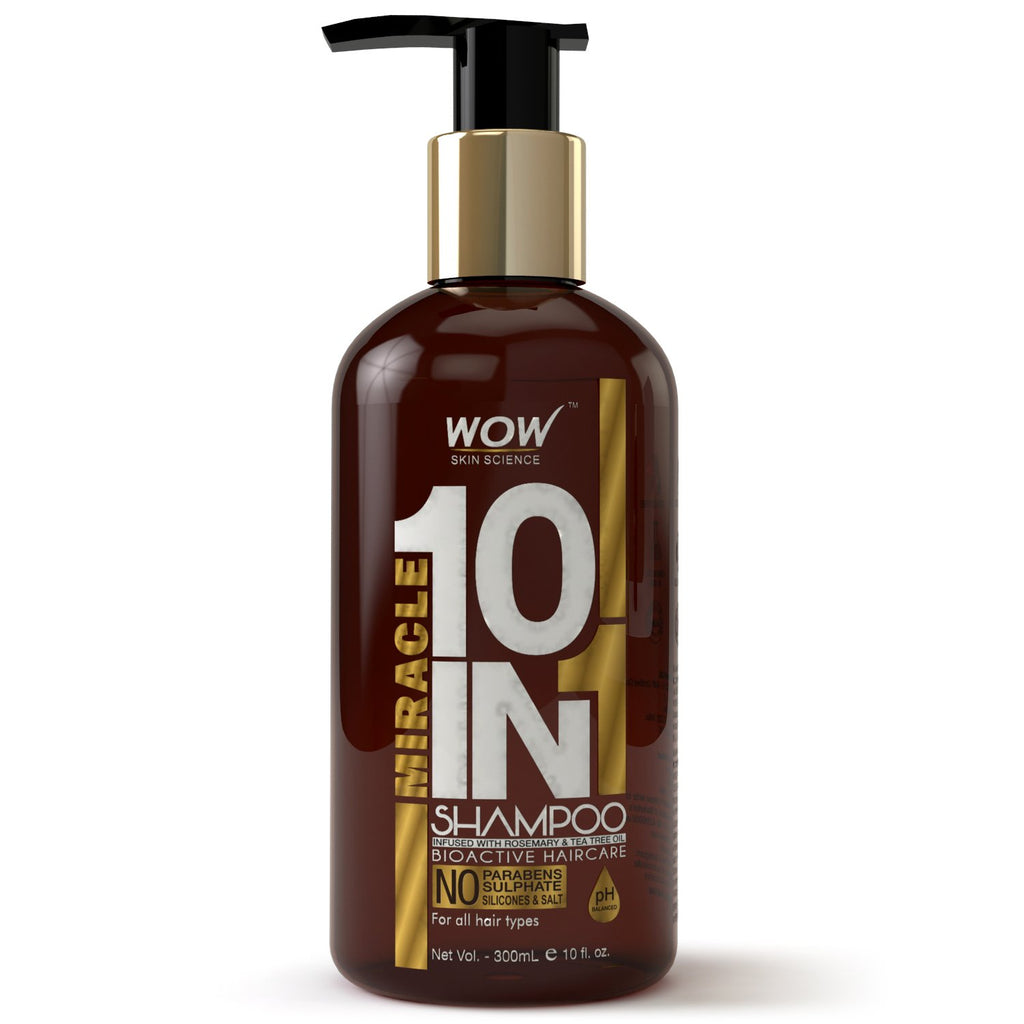 WOW Skin Science Miracle 10 in 1 Shampoo - 300 mL - BuyWow