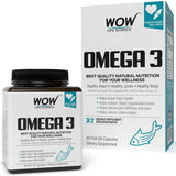 WOW Life Science Omega-3 Fish Oil 60 Capsules - BuyWow