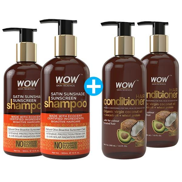 WOW Skin Science Satin Sunshade Sunscreen Shampoo