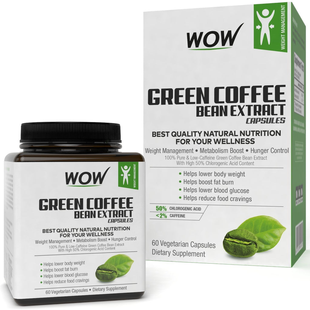 WOW Life Science Green Coffee Weight Management Supplement 60 Capsules - BuyWow
