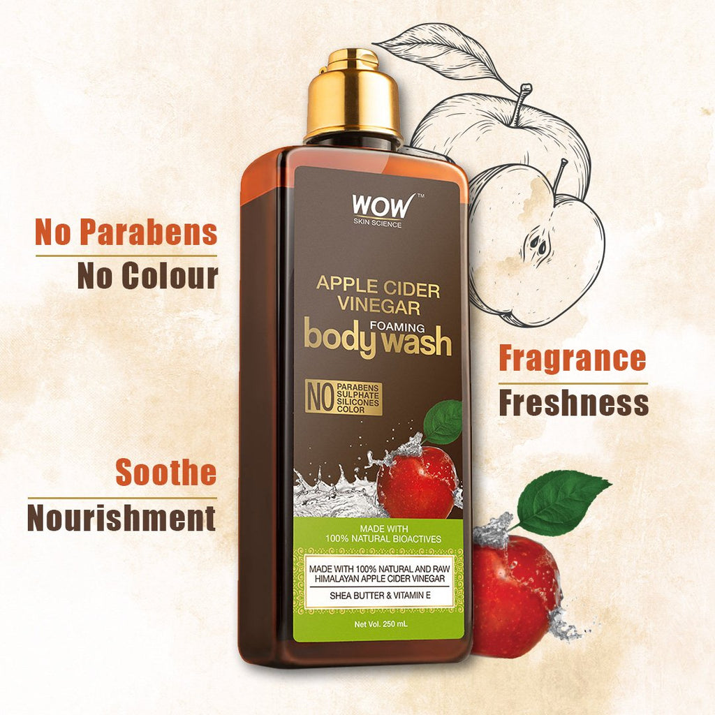 WOW Skin Science Apple Cider Vinegar Foaming Body Wash - 250 mL - BuyWow