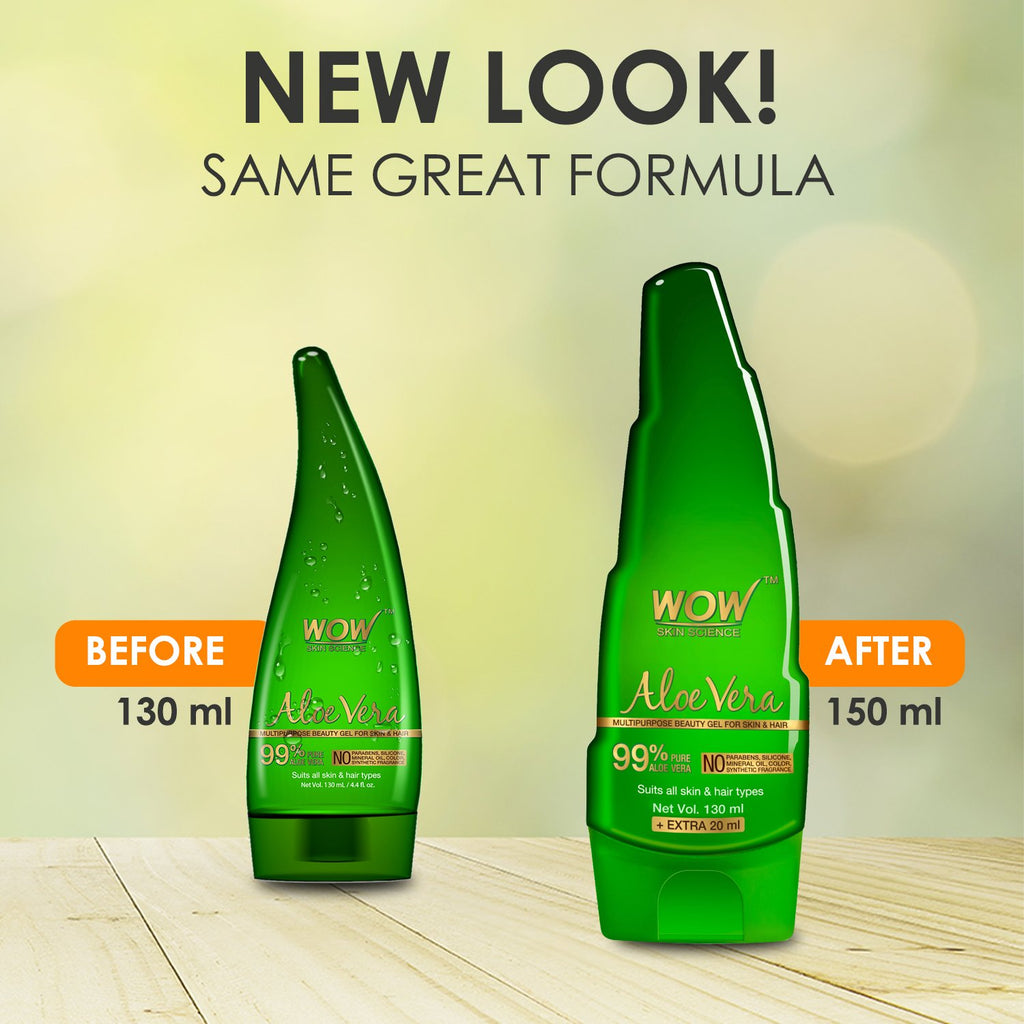 WOW Skin Science Aloe Vera Gel - 130 ML - BuyWow