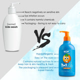 WOW Skin Science Kids Sweet Orange 3 in 1 Tip to Toe Wash - Shampoo + Conditioner + Bodywash - 300 mL - BuyWow