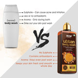 WOW Skin Science Ubtan Body Wash with Chickpea Flour, Almond Extract, Saffron & Turmeric Extracts - Natural De Tan - No Sulphate, Parabens, Silicones & Color - 250 mL - BuyWow