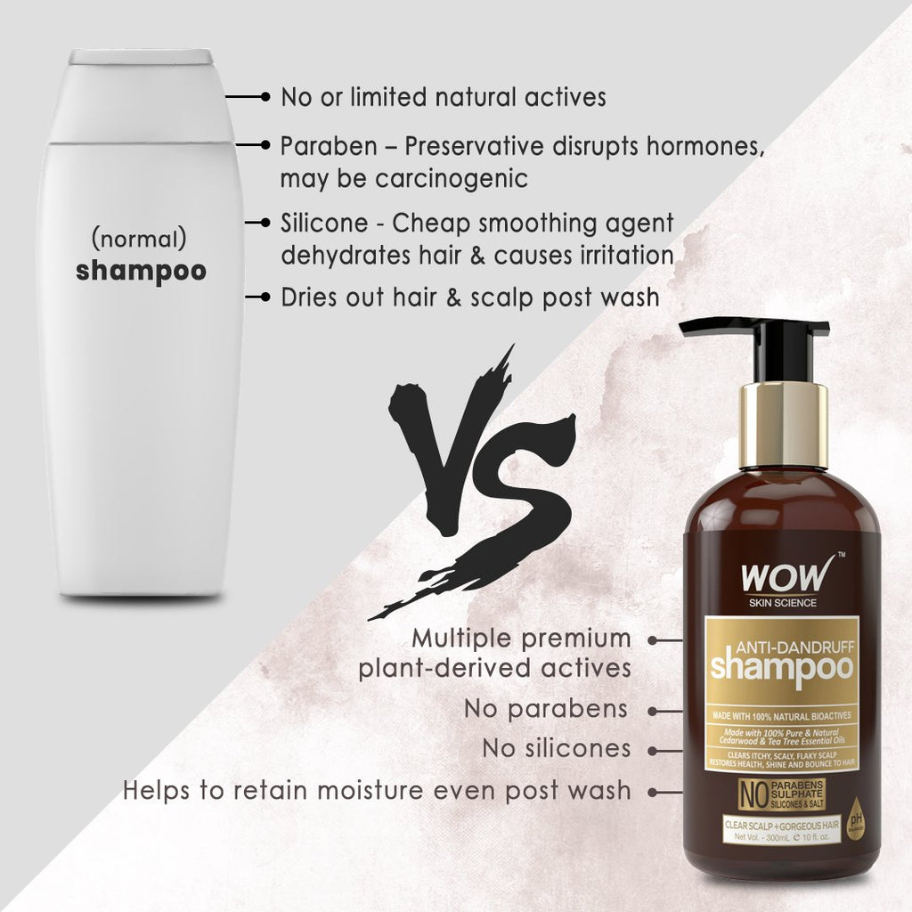 WOW Skin Science Anti Dandruff Shampoo - 300 mL - BuyWow