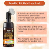 WOW Skin Science Brightening Vitamin C Foaming Face Wash (with built-in brush) - 100 ml - BuyWow
