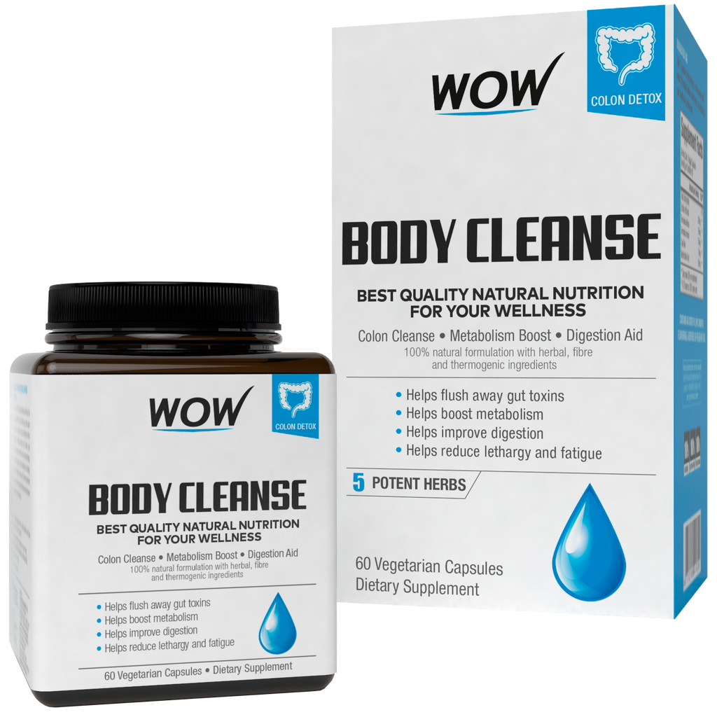 WOW Life Science Body Cleanse - Herbal & Antioxidants Supplement - BuyWow