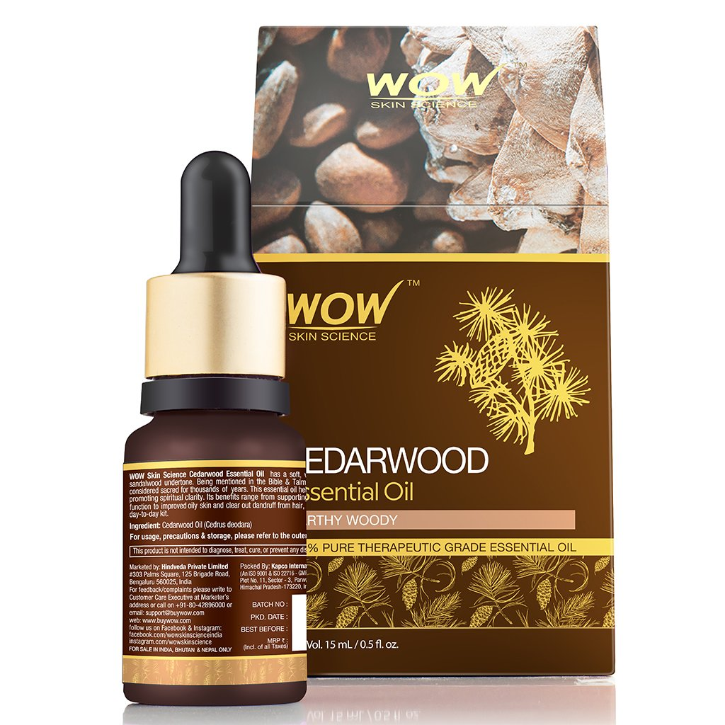 WOW Skin Science Cedarwood Essential Oil - BuyWow