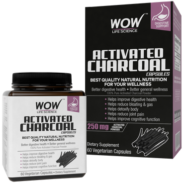 WOW LIFE SCIENCE ACTIVATED CHARCOAL DIETARY SUPPLEMENT