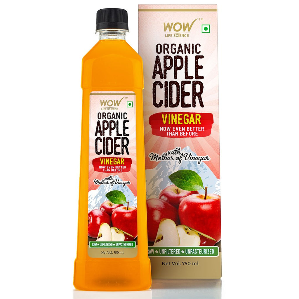 WOW Life Science Apple Cider Vinegar - Pure with Mother of Vinegar - 750 mL - BuyWow