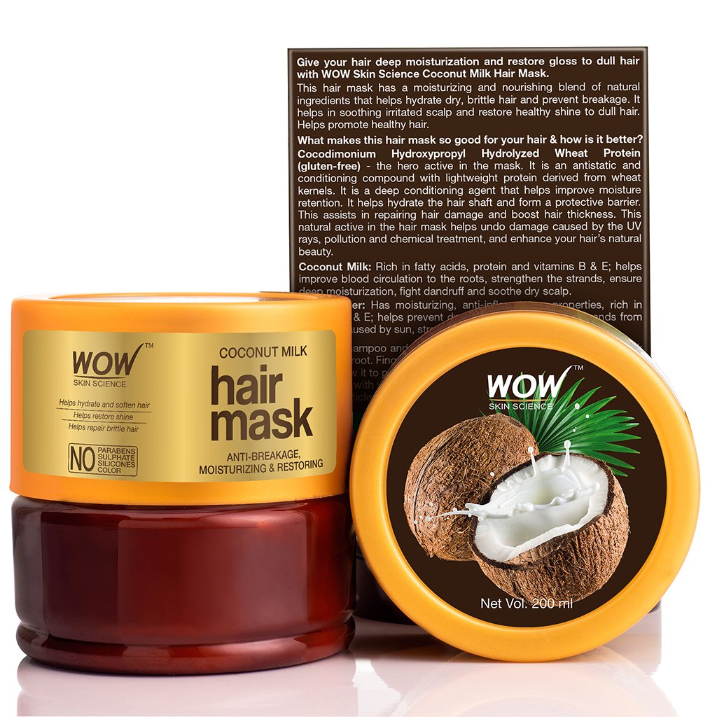 WOW Skin Science Coconut Milk Hair Mask - 200 mL - BuyWow