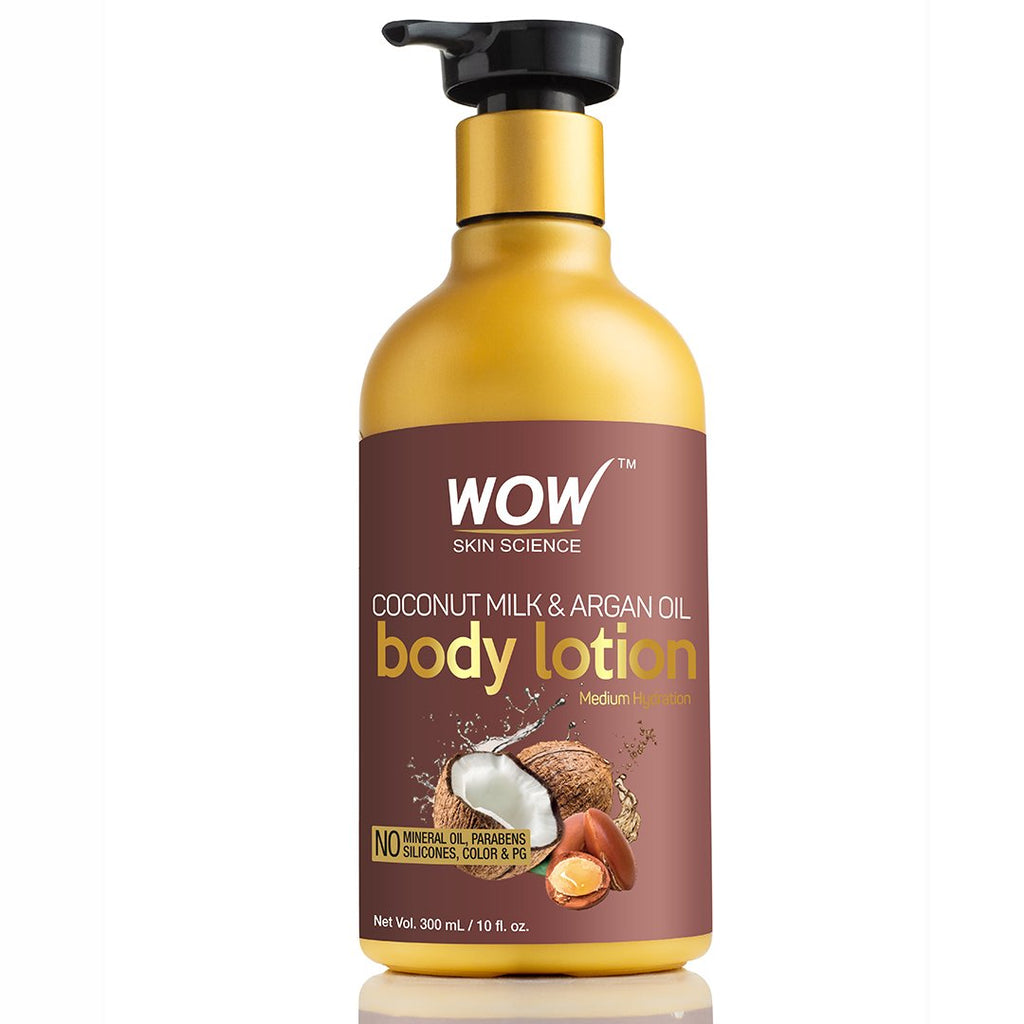 WOW Skin Science Coconut Milk & Argan Oil Lotion - (Hydration Level - Medium) - 300 mL - BuyWow