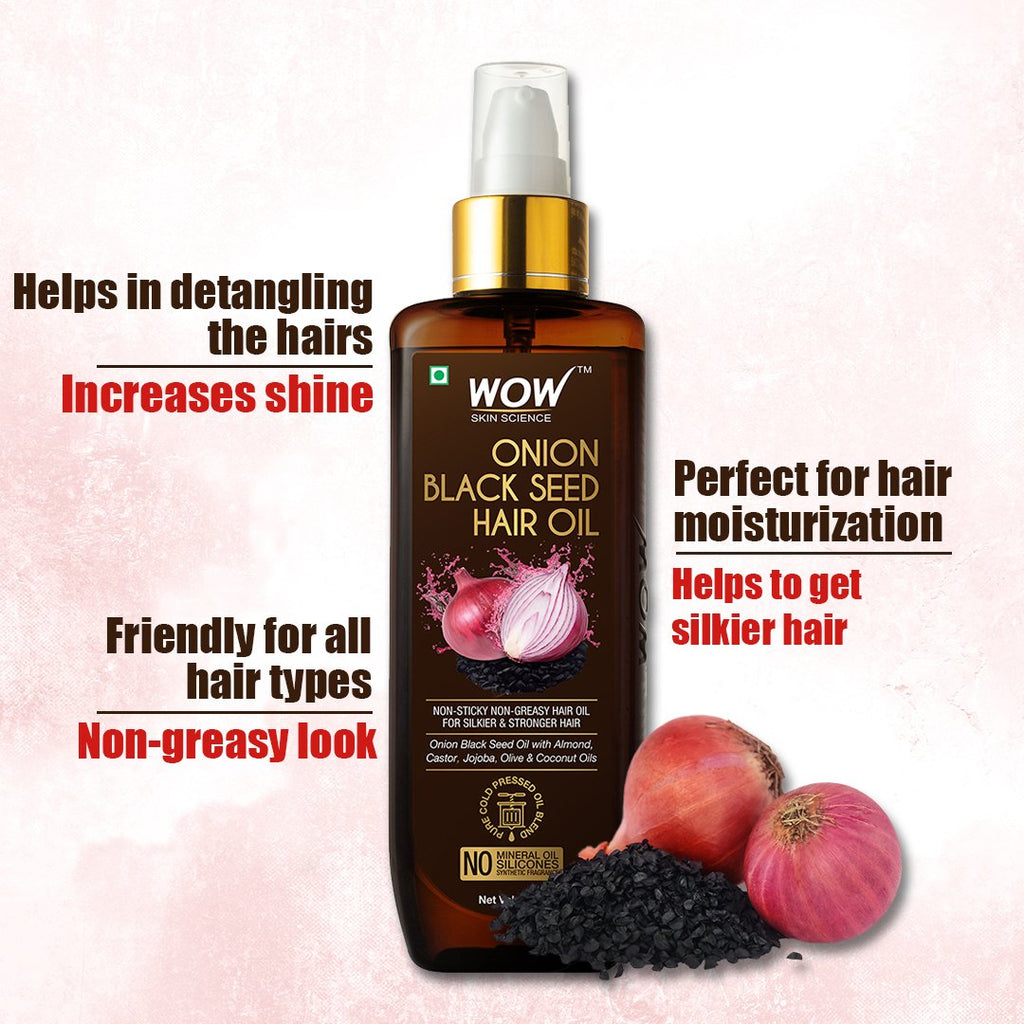 WOW Skin Science Onion Ultimate Hair Care Kit (Shampoo + Hair Conditioner + Hair Oil) - BuyWow