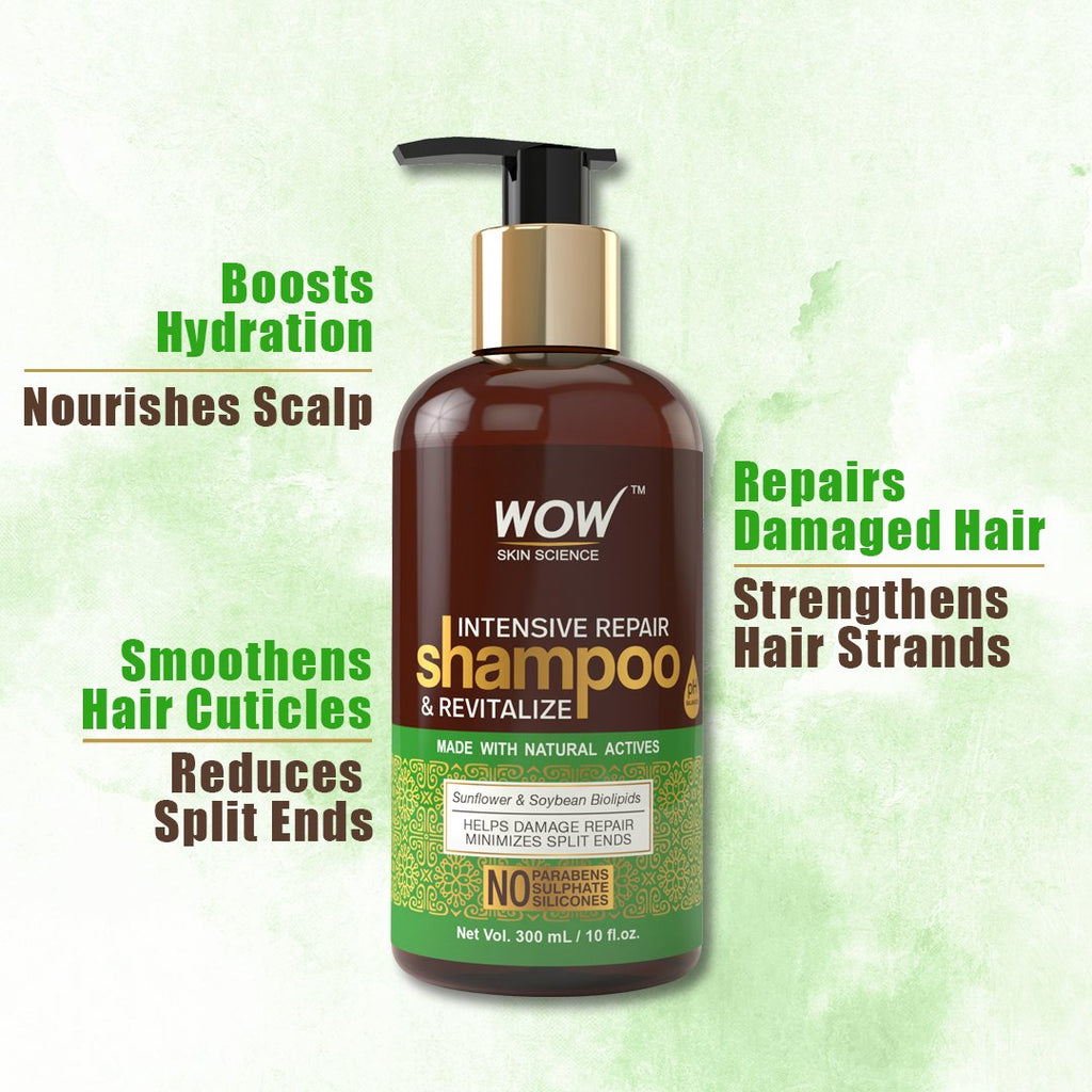 WOW Skin Science Intensive Repair Shampoo and Revitalize - 300 mL - BuyWow