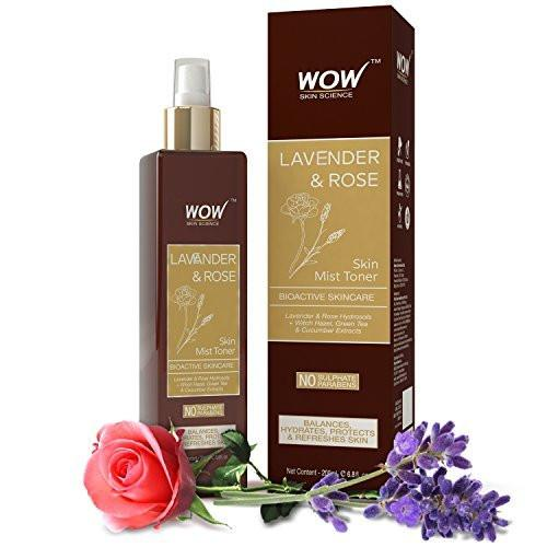 WOW Skin Science Lavender & Rose Skin Mist Toner - 200 mL - BuyWow