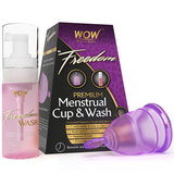 WOW Skin Science Freedom Premium Menstrual Cup And Wash - BuyWow