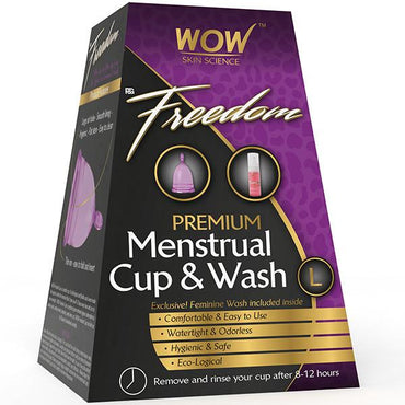 Wow Freedom Premium Menstrual Cup And Wash