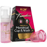 WOW Skin Science Freedom Premium Menstrual Cup And Wash