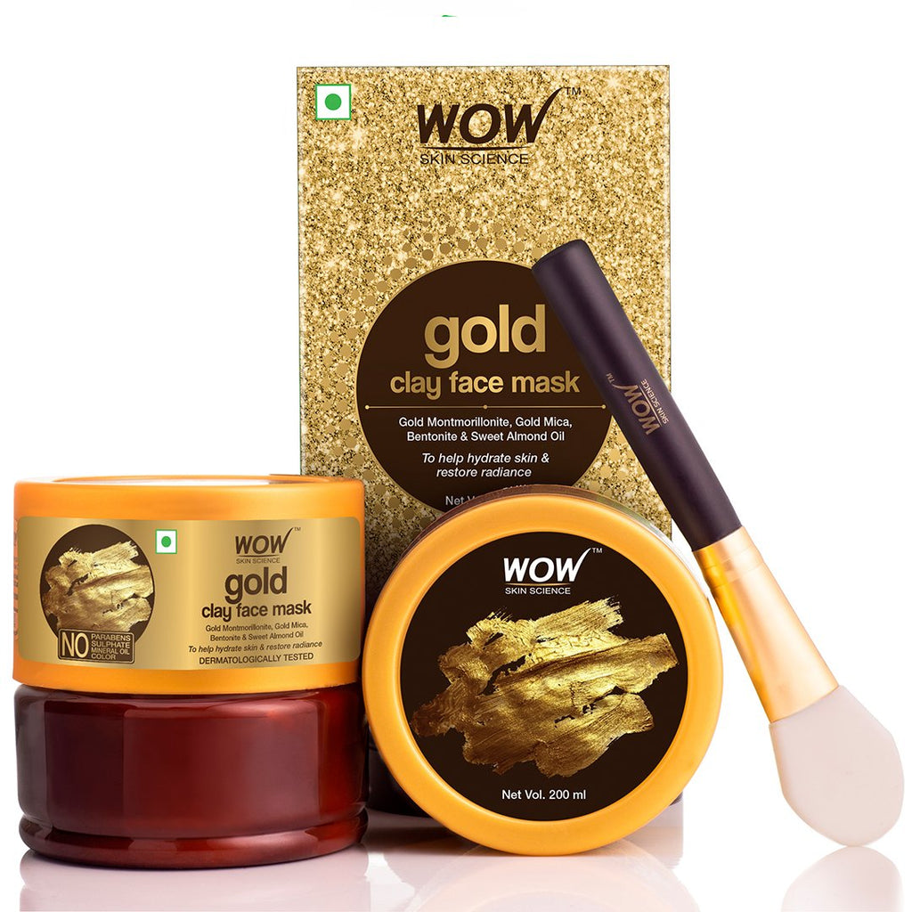 WOW Skin Science Gold Clay Face Mask - 200 mL - BuyWow