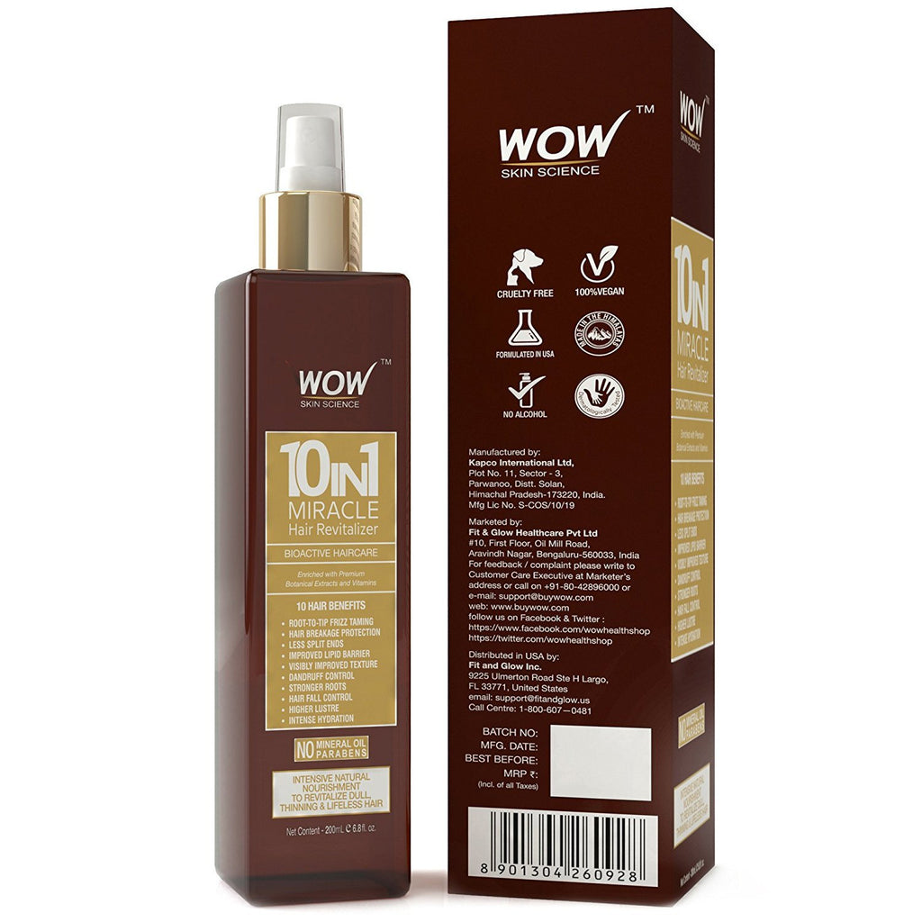 WOW Skin Science 10-in-1 Miracle Hair Revitalizer - 200 ML - BuyWow