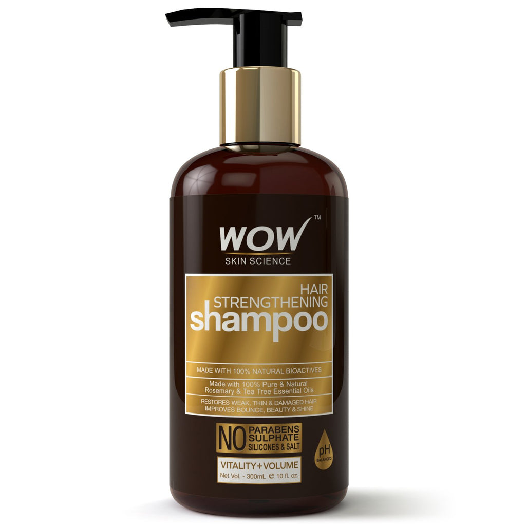 WOW Skin Science Hair Strengthening Shampoo - No Parabens, Sulphate & Silicones - 300mL - BuyWow