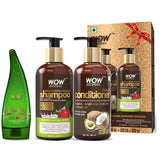 WOW Skin Science Apple Cider Vinegar Shampoo + WOW Skin Science Hair Conditioner = WOWSOME TWOSOME Hair Care Package - Net Content 600 mL - BuyWow