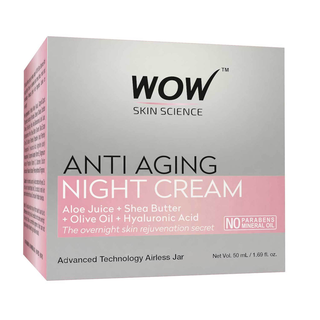 WOW Skin Science Anti Aging Daily Night Cream - 50 ML - BuyWow