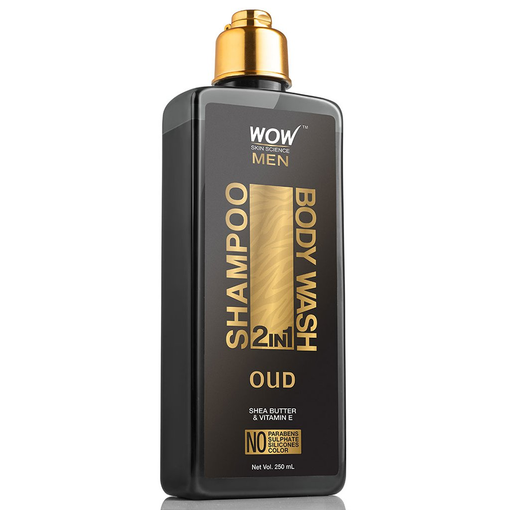 WOW Skin Science Oud 2 in 1 Shampoo &  Body Wash - 250 mL - BuyWow