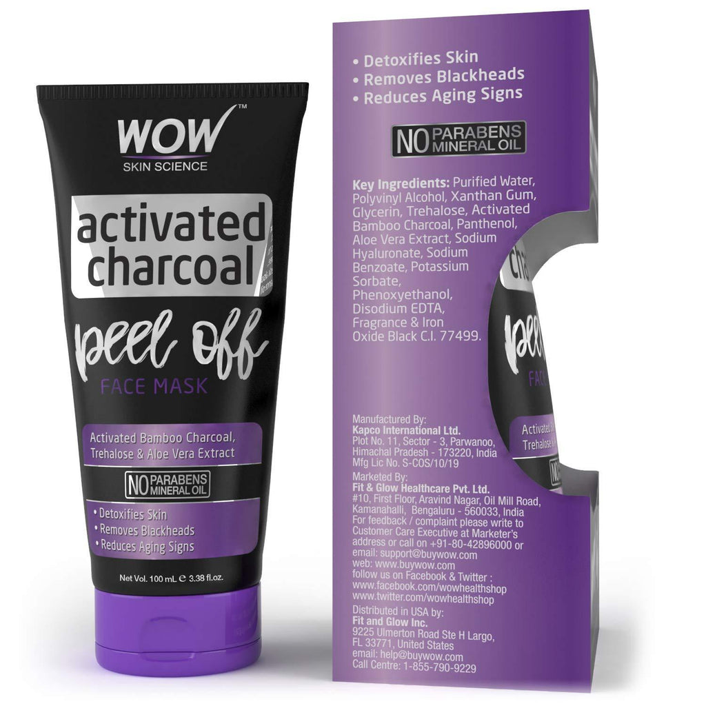 WOW Skin Science Charcoal Peel Off - 100mL - BuyWow