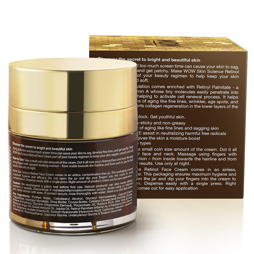 WOW Skin Science Retinol Face Cream-50mL - BuyWow