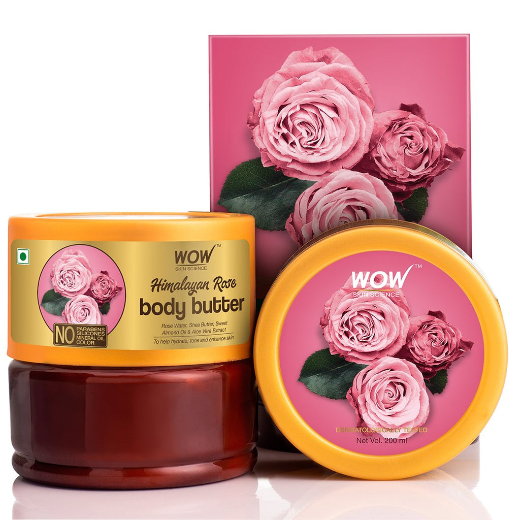 WOW Skin Science Himalayan Rose Body Butter - No Parabens, Silicones, Mineral Oil & Color - 200mL - BuyWow