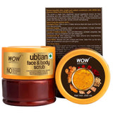 WOW Skin Science Ubtan Face & Body Scrub with Chickpea Flour, Almond Shell Powder, Saffron & Turmeric Extracts, Rose Water & Sandalwood Oil - Natural De Tan - No Sulphate, Parabens, Silicones & Color - 200 mL - BuyWow