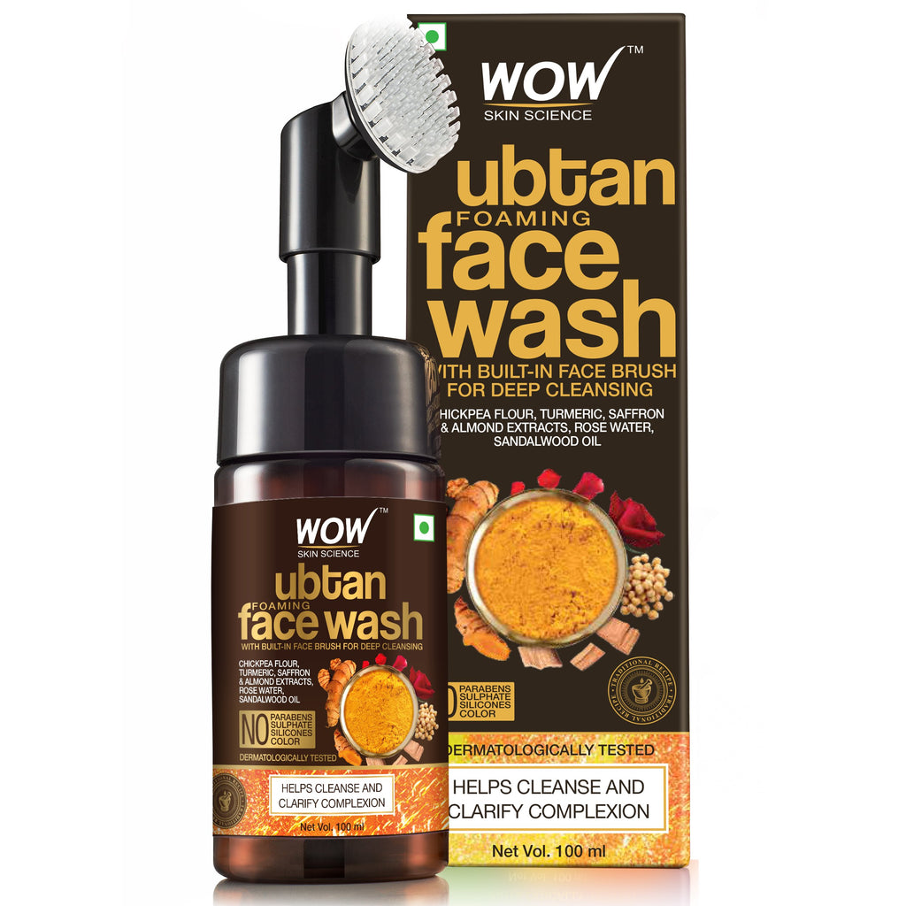 WOW Skin Science Ubtan Foaming Face Wash (with built-in brush) - 100 ml - BuyWow