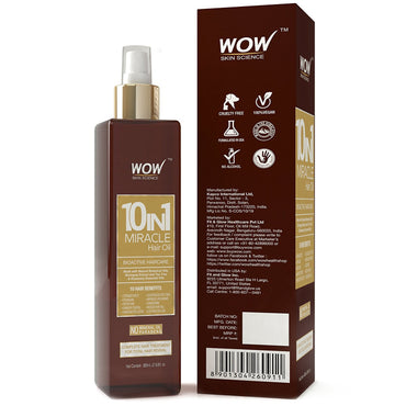 WOW Skin Science 10 In 1 Miracle Hair Oil - Cold Pressed -200ML