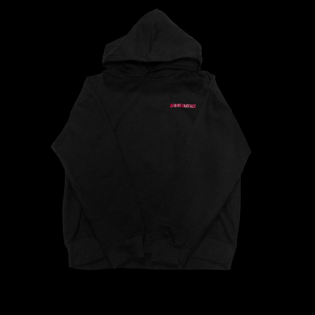 SOLD - AFAMILIARFACE OVERSIZED DALI HOODIE (Black)