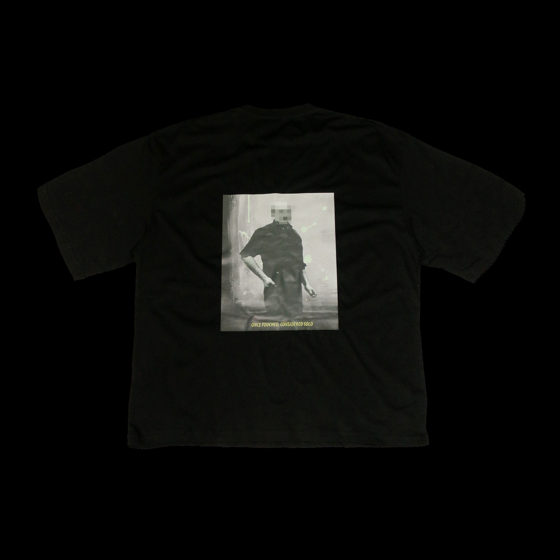 SOLD - AFAMILIARFACE PRIVATE AUCTION OVERSIZED T-SHIRT (Black)