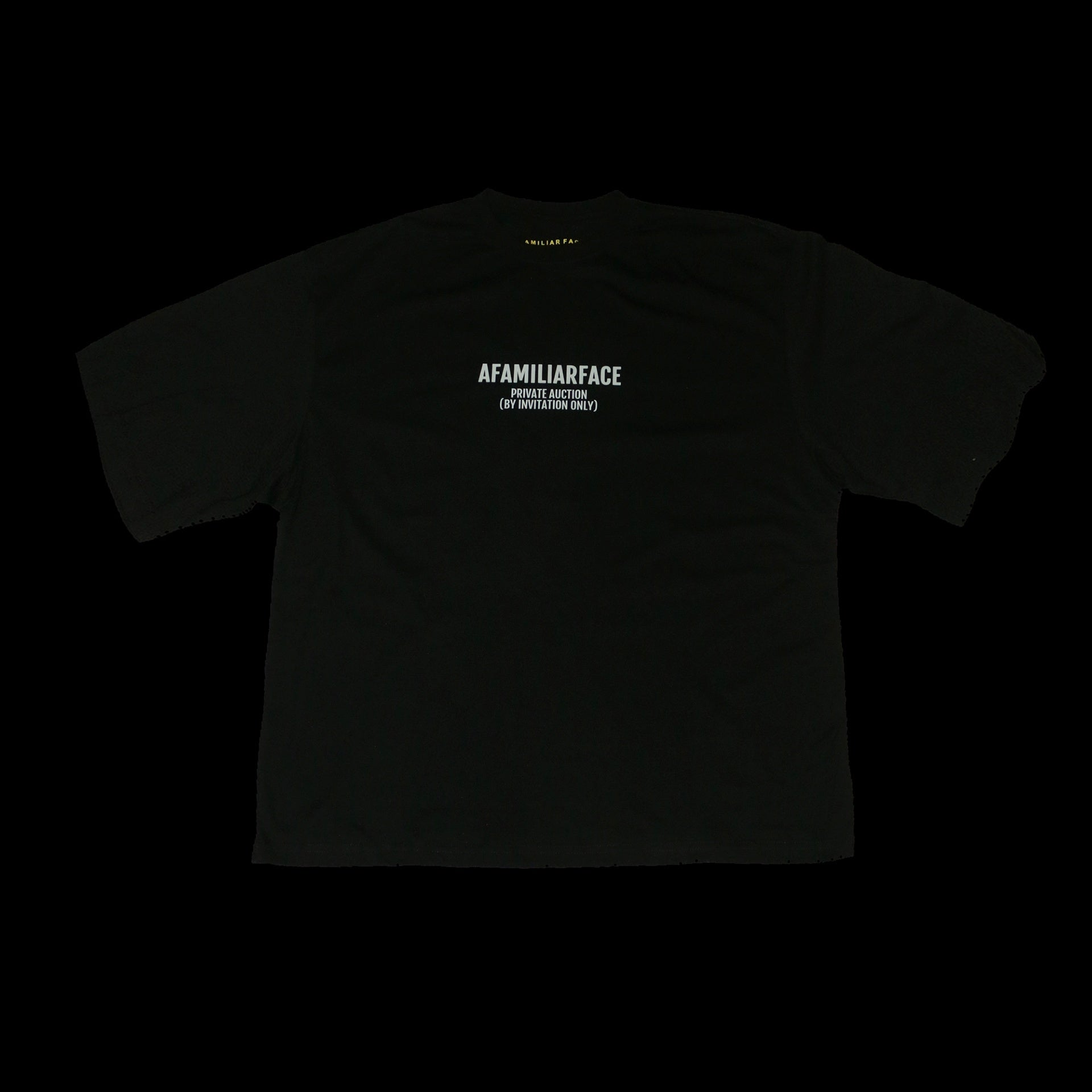 AFAMILIARFACE PRIVATE AUCTION OVERSIZED T-SHIRT (Black)