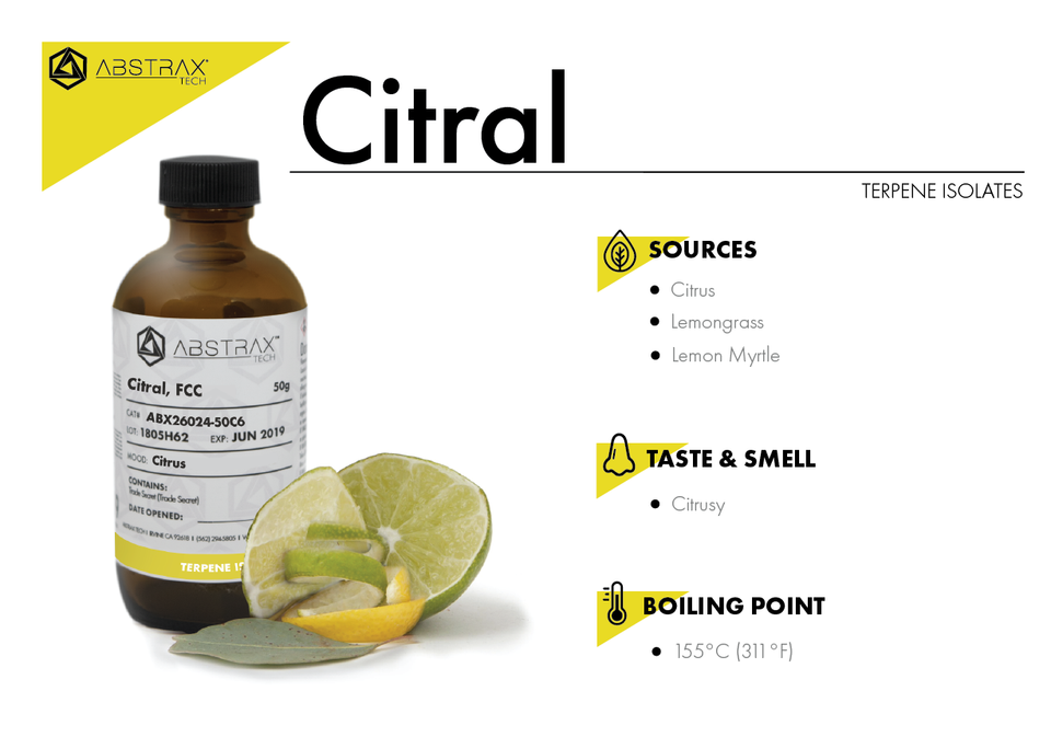 Citral | Terpene Isolate | Abstrax Tech