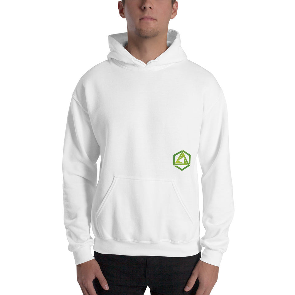 Abstrax White Hoodie