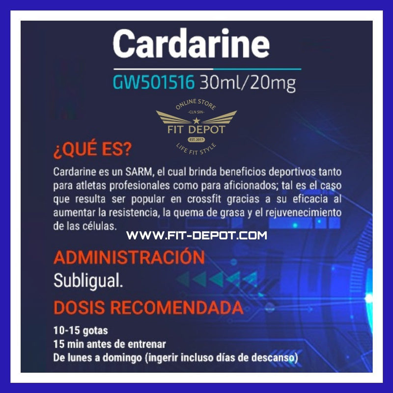 Cardaríne (GW-501516) 20MG / 30ML | SARMS SYNERLAB - SARM