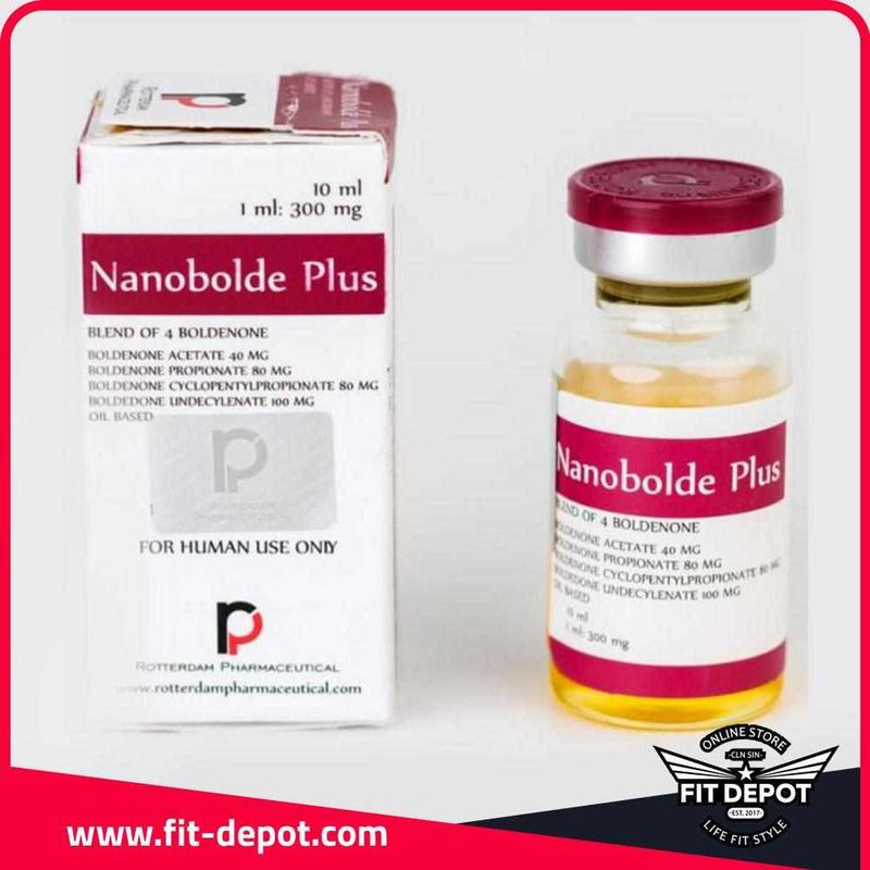 Nanobolde Plus - Boldenona - Blend of 4 Boldenone / 300 mg/1ml / 10 ML - / Esteroides ROTTERDAM PHARMACEUTICAL  - FIT Depot de México