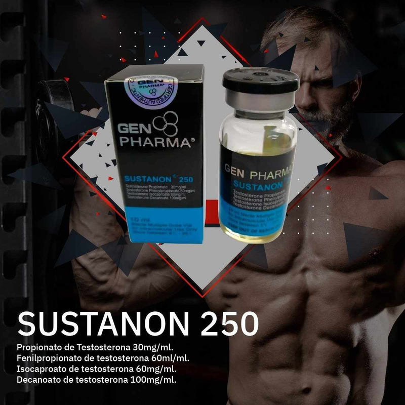 SUSTANON 250 / TESTOSTERONE PROPIONATE 30MG · PHENYLPROPIONATE 60 MG · ISOCAPROATE 60 MG · DECANOATE 100 MG / GEN PHARMA ESTEROIDES - esteroides