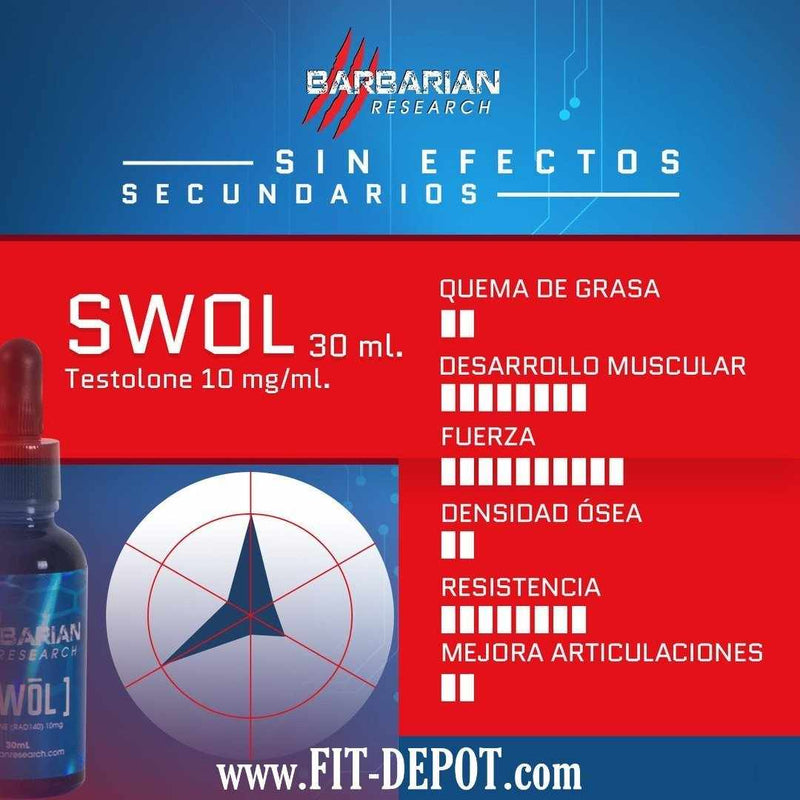 SWOL (Testolone) 10MG/ML - 30ML | SARMS BARBARIAN RESEARCH - FIT Depot de México
