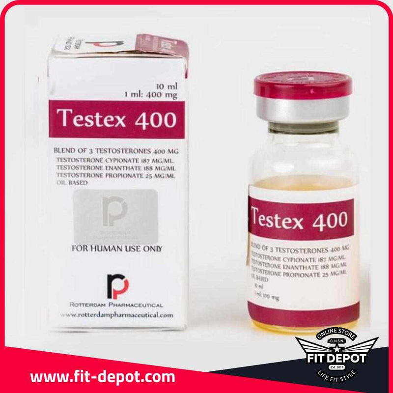 Textex 400 / Blend of 3 Testosterones / 400 mg/1ml / 10 ML - / Esteroides ROTTERDAM PHARMACEUTICAL - FIT Depot de México